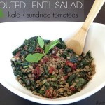 Sprouted Lentil Salad with Sundried Tomatoes and Kale