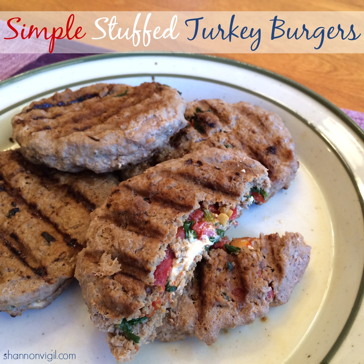 simple stuffed turkey burgers